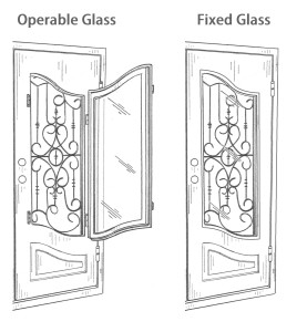 We Still Offer The Operable Window Gl Option On Custom Doors If Selecting This Function Keep In Mind That You Will Have A Loss Thermal Performance
